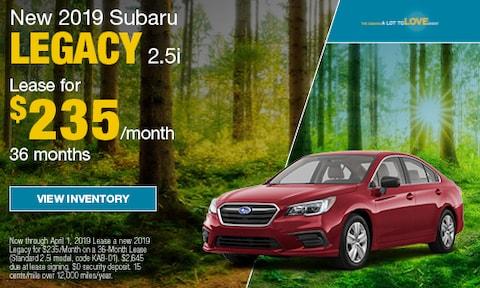 New 2019 Subaru Legacy 2.5i