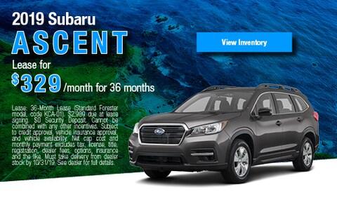 New Specials 2019 Subaru Ascent