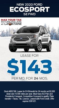 Ecosport - $143/mo