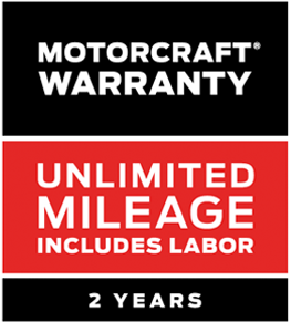 Motorcraft Warranty: Two Years. Unlimited Mileage. Includes Labor*