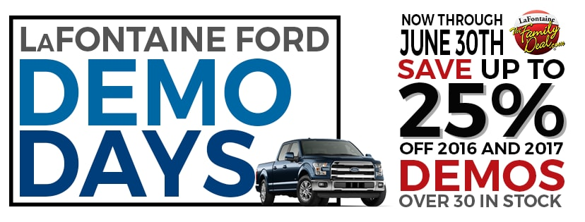 Lafontaine Ford Lansing >> Demo Days | LaFontaine Ford of Lansing