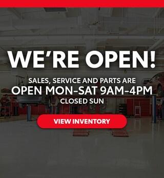 We're Open!