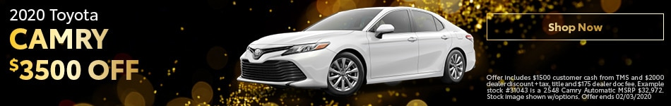 January 2020 Camry Special