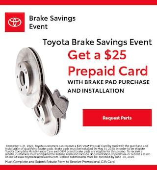 Toyota Brake Savings Event Special