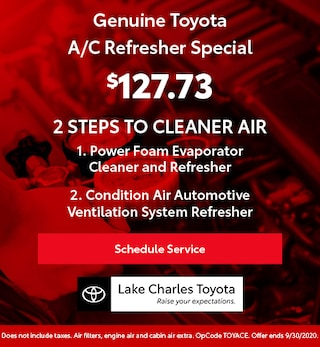 Genuine Toyota A/C Refresher Special