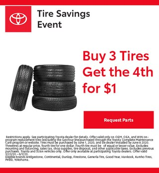 Toyota Tires Savings Event Special