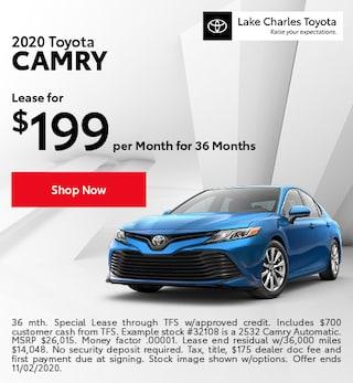 October 2020 Camry Special