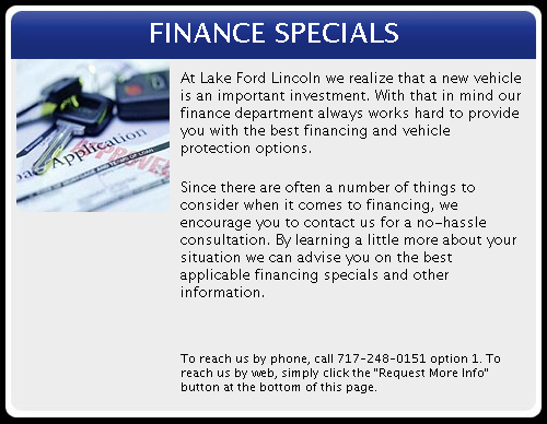 Specials | Lake Ford Lincoln