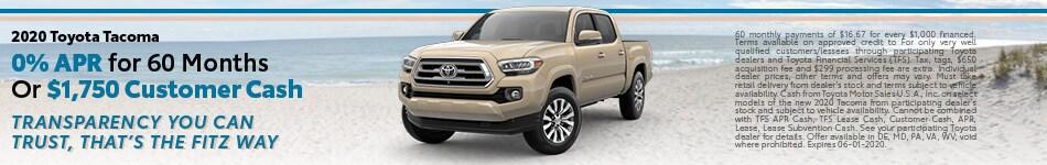 May | 2020 Toyota Tacoma | Finance