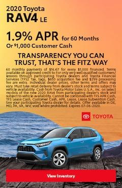 June | 2020 Toyota RAV4 LE | Finance