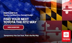 Maryland's #1 Toyota Certified Pre-Owned Dealer