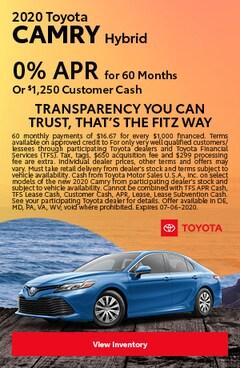 June | 2020 Toyota Camry Hybrid | Finance