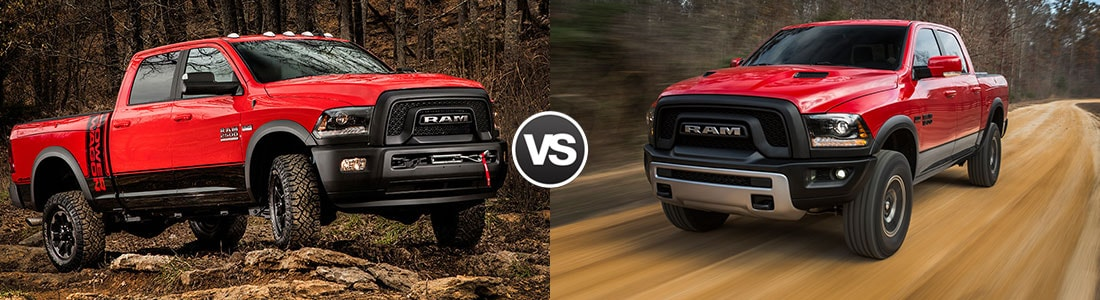 2017 RAM 2500 Power Wagon vs 2017 RAM 1500 Rebel