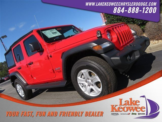 Featured Used 2018 Jeep Wrangler Unlimited Sport S Sport S 4x4 for Sale in Seneca SC