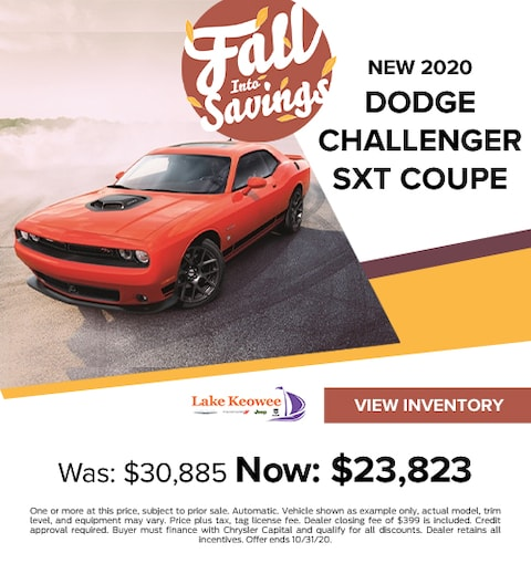 2020 Dodge Challenger SXT Coupe Was: $30,885 Now: $23,823