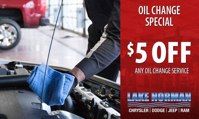 lake norman chrysler oil change coupon