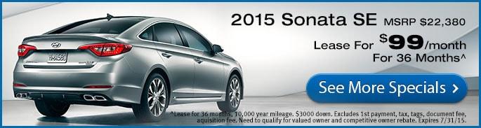 2015 Hyundai New Vehicle Specials