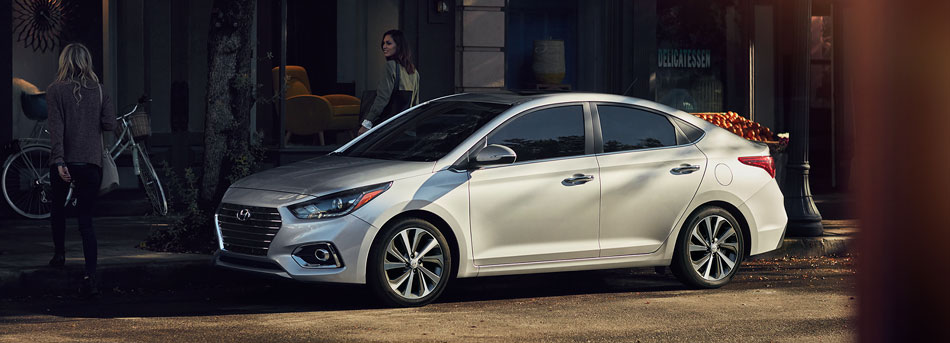 The redesigned Hyundai Accent