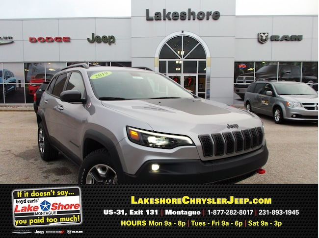 New vehicle 2019 Jeep Cherokee TRAILHAWK ELITE 4X4 Sport Utility For Sale near you in Montague, MI