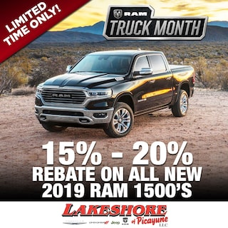 15% - 20% off on ALL NEW 2019 RAM 1500's