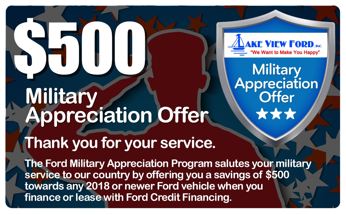 ford military appreciation offer in conneaut lake pa lake view ford. Black Bedroom Furniture Sets. Home Design Ideas