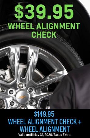 $39.95 Wheel Alignment Check