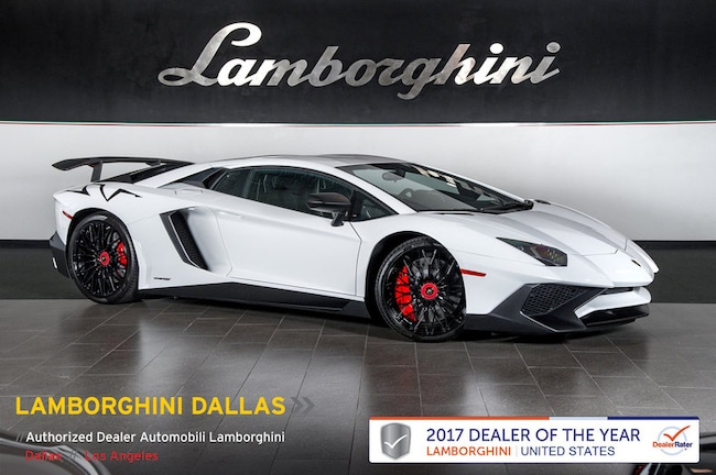 Pre-Owned 2016 Lamborghini Aventador SV LP 750-4 Coupe Dallas TX