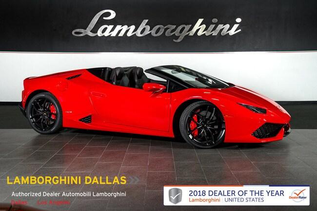 Pre-Owned 2017 Lamborghini Huracan LP610-4 Spyder Dallas TX