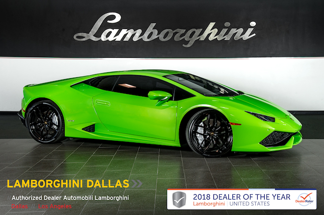 Pre-Owned 2015 Lamborghini Huracan LP610-4 Coupe Dallas TX