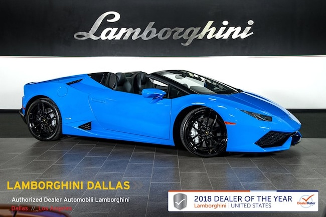 Pre-Owned 2016 Lamborghini Huracan LP610-4 Spyder Dallas TX