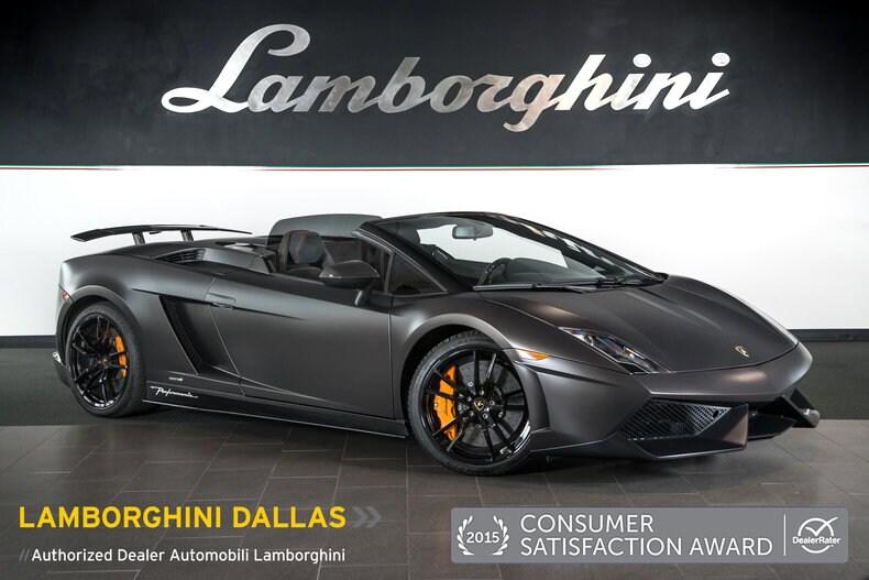 Pre Owned 2013 Lamborghini Gallardo LP570 4 Performante Spyder Dallas TX