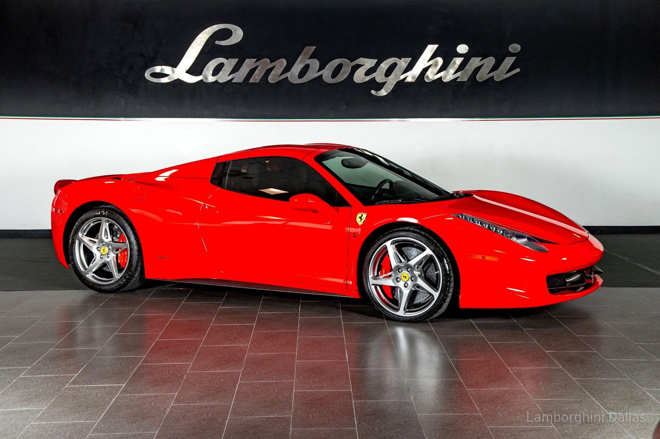 Used 2013 Ferrari 458 Italia For Sale Richardson Tx Stock 20l0319b Vin Zff68nha2d0191103