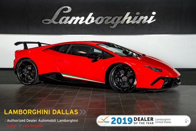 Certified Pre-Owned 2018 Lamborghini Huracan Performante Coupe For Sale Dallas TX