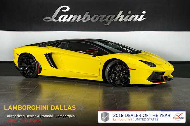 Pre-Owned 2016 Lamborghini Aventador Pirelli Coupe Dallas TX