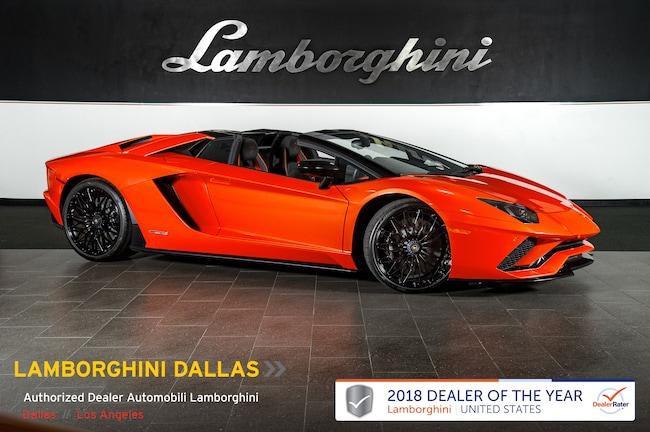 Pre-Owned 2018 Lamborghini Aventador S Roadster Dallas TX
