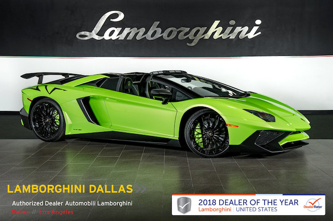 Pre-Owned 2017 Lamborghini Aventador SV LP750-4 Roadster Dallas TX