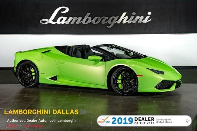 Certified Pre-Owned 2017 Lamborghini Huracan LP610-4 Spyder For Sale Dallas TX