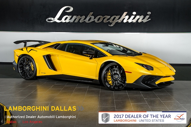 Pre-Owned 2015 Lamborghini Aventador SV LP 750-4 Coupe Dallas TX