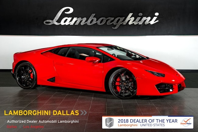 Certified Pre-Owned 2017 Lamborghini Huracan LP580-2 Coupe For Sale Dallas TX