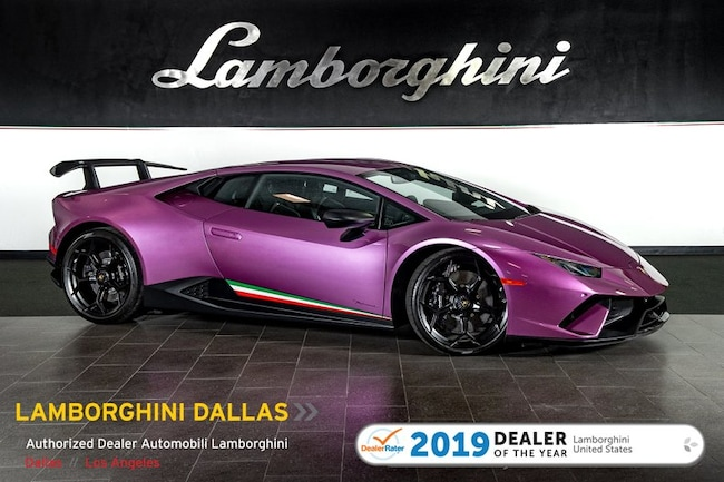 Certified Pre-Owned 2018 Lamborghini Huracan Performante Coupe For Sale Dallas TX