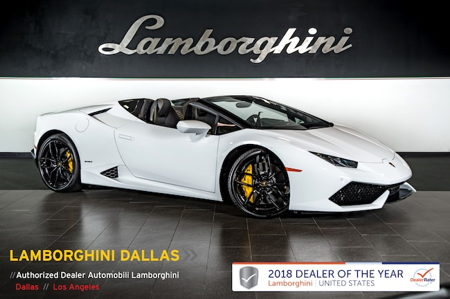Certified Pre-Owned 2017 Lamborghini Huracan LP610-4 Spyder For Sale Dallas TX