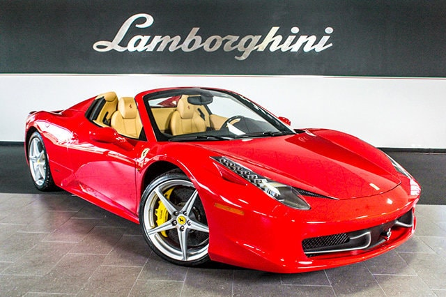 Pre Owned 2013 Ferrari 458 Italia Spider Dallas TX