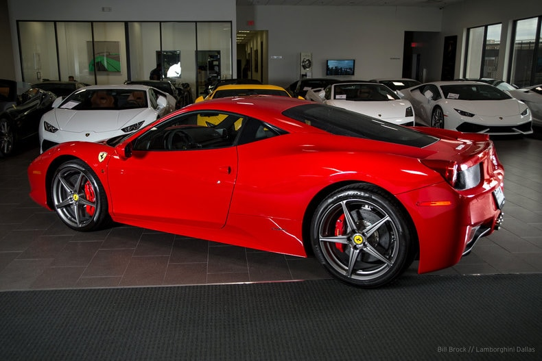 used 2012 ferrari 458 for sale richardson tx stock l0924 vin zff67nfa2c0183720. Black Bedroom Furniture Sets. Home Design Ideas