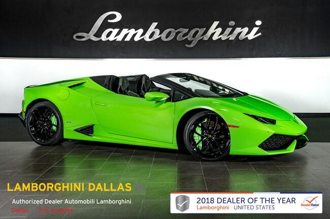Pre-Owned 2016 Lamborghini Huracan LP610-4 Spyder Dallas TX
