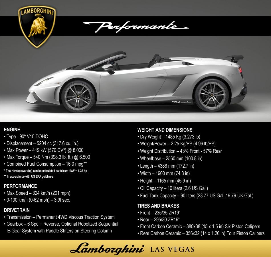 Lamborghini Gallardo LP570 4 Performante Official Press Release