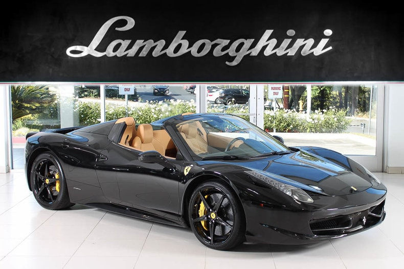 Great Used 2013 Ferrari 458 Italia Spider Convertible Near Los Angeles, CA