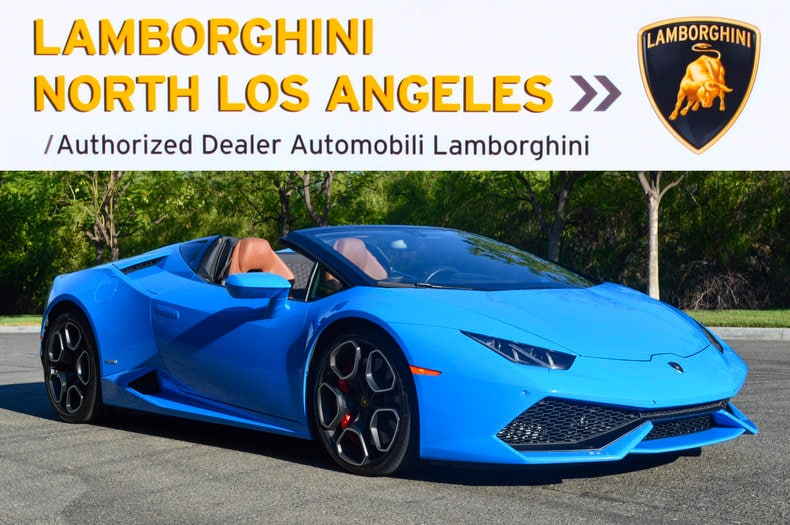 Used 2016 Lamborghini Huracan LP610-4 Spyder near Los Angeles, CA