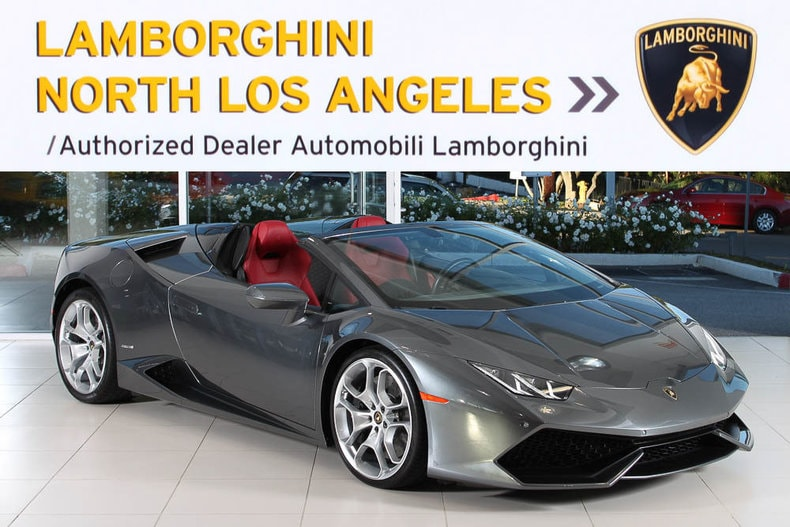 used 2016 lamborghini huracan spyder for sale at lamborghini
