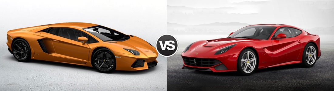 Compare Lamborghini Aventador Vs Ferrari F12 Paramus Nj