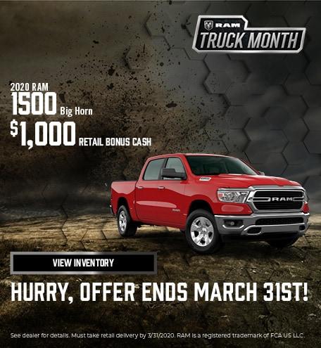 2020 RAM 1500 Big Horn   Truck Month
